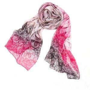 Novo lenço de seda de Impressão Digital, sarjado seda cachecol. Lenços de Seda