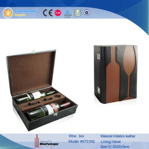 خمس صندوق في زجاجة & زجاج شكل جلد خمر شركة نقل جويّ (5731)