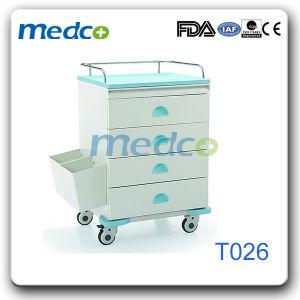 Hete Verkoop! Karretje van de Geneeskunde van de Behandeling van het Metaal van het ziekenhuis het Geduldige met ABS Hoogste Oppervlakte