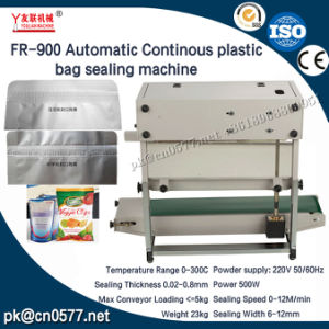 Fr-900 Máquina de sellado de bolsas de plástico de continuo para la carne