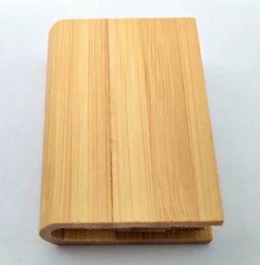 Усовершенствованная бизнес подарок книги дизайн древесный материал флэш-диск USB