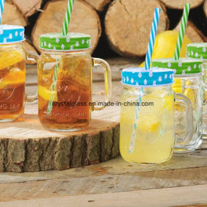 Trinkendes Glasglas/Becher mit Griff