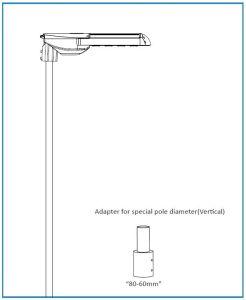 80мм до 60мм 60-50мм 76мм до 60мм переходник для освещения улиц