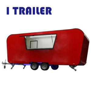 Itrailer Fv-58 internationaler Standard-bietender mobile Nahrungsmittelkarren-Dienstnahrungsmittelwohnwagen