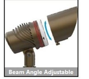 Foco LED de iluminação de realce exterior à prova com material de Latão