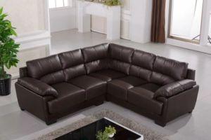 居間のための現代ソファの流行の革ソファー