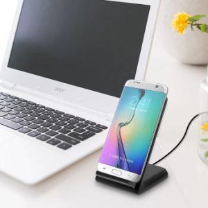 工場価格Q700チーはSamsungのノート5 S6/S6 Edge/S6の端のための無線充満パッドの無線充電器を3巻く