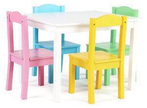 아이들 Table&Chairs는 다중 색깔을%s 가진 아이 가구를 놓는다
