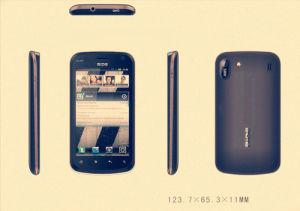 2012 nieuwe GPS WiFi Dubbele SIM Smartphone van de Aankomst 3G Android2.3