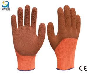 テリーのうたた寝のライニングの乳液3/4泡によって塗られる作業手袋