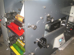 기계를 인쇄하는 Rtry-320d 4 색깔 스티커 레이블 종이 Flexo