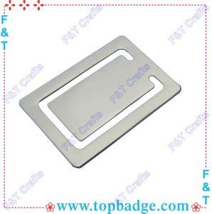 Metal branco baratas personalizado marcador (FTBM003H)
