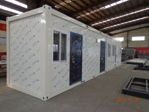 Flat Pack contenedor de 20 pies de la casa para el Campamento de la cocina / WC