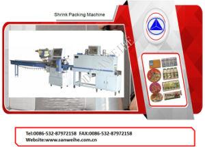 POF entièrement étanche Type de film thermorétractable Machine d'emballage d'enrubannage automatique de débit