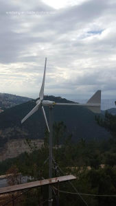3kw Aerogenerador horizontal y el sistema de panel solar para el área remota