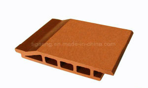 PE de gama alta de madera impermeable al aire libre el panel de pared hojas de WPC