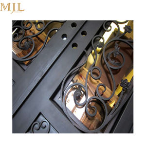 Portelli di entrata incurvati esterni del ferro saldato con vetro Tempered