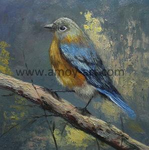 Ave artesanais pintura a óleo com efeito Textural sobre tela para Decoração de parede