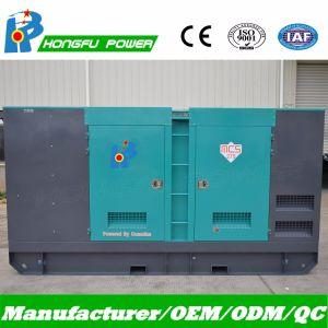 Conjunto de Gerador eléctrico de potência silenciosa com motor Cummins Diesel 313kVA Potência Principal