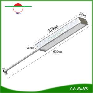 Aleación de aluminio de 48 LED Solares de exterior Lámpara de jardín de la luz de la calle