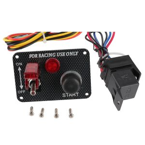 cambio di stato di funzionamento rosso del pulsante LED di inizio del motore del comitato dell'interruttore di accensione della vettura da corsa 12V