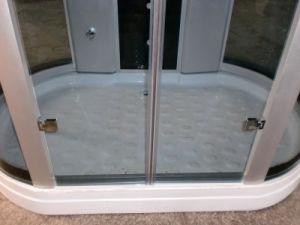 Perfil de aluminio baño Ducha batientes de vidrio templado