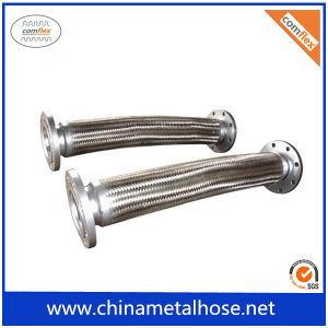 Le tressage de fil en carton ondulé en métal flexible avec la bride de flexible