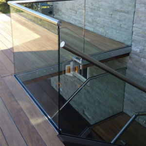 Villa Chalet pasillos y escaleras de la seguridad de canal U valla de vidrio