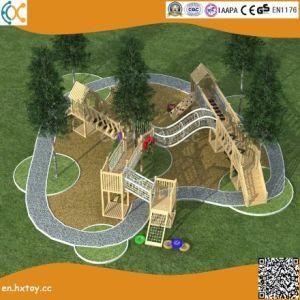 幼稚園のための裏庭の屋外の冒険の木の運動場