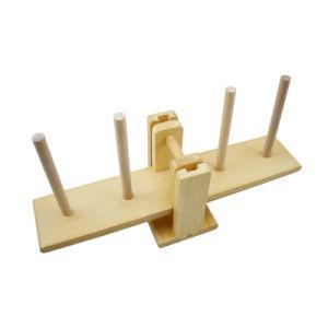 Ensino precoce de madeira Equilíbrio Multicor Pilha do bloco de brinquedos de crianças