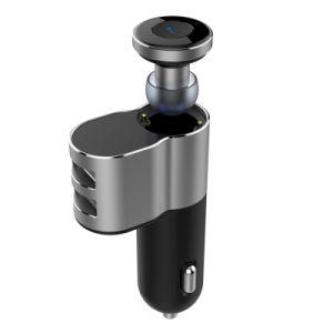 Модные Fitable гарнитуры Bluetooth с двойной порт USB автомобильное зарядное устройство