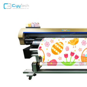 Rullo di ampio formato per rotolare la stampante della bandierina del tessuto di tessile del cotone di Digitahi diretta su tessuto con la stampante industriale di Canvsr della stampatrice di sublimazione delle testine di stampa