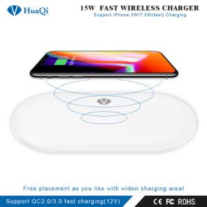 Mejor 15W Quick Qi Wireless Mobile/Cell Phone soporte de carga/pad/estación/cargador para iPhone/Samsung/Huawei/Xiaomi (Android)