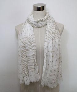 Senhora Flower Impresso Voil Algodão Moda lenço de mola (YKY1061)