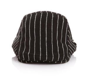 カスタムヘリンボン黒いNewsboyのキヅタの帽子