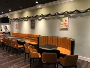 2 Places Bistro Restaurant Canape En Cuir Stand Salon Industriel 2