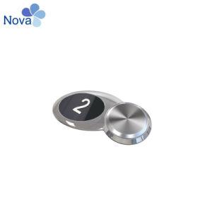 Nvbs211 Нажимная кнопка DC12V синий индикатор с помощью шрифта Брайля