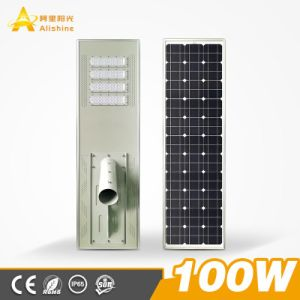 Indicatore luminoso di via solare tutto compreso solare del rifornimento 100 W LED del fornitore di illuminazione del LED