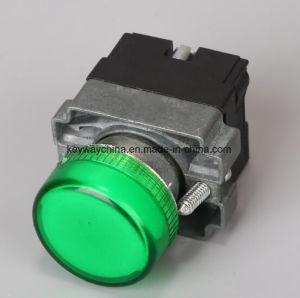 金属のタイプ6-380Vの試験ライトヘッド押しボタンスイッチLa118kbv