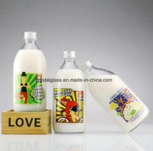 Abnehmer-Entwurfs-Drucken-Glasmilchflaschen