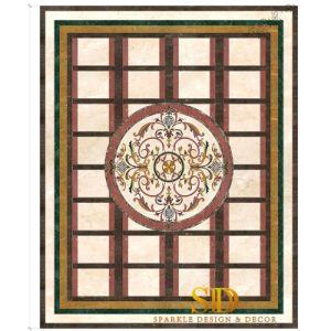 Forma de rectángulo pasillo/entrada medallón con mármol Centeral medallón redondo/Inlay
