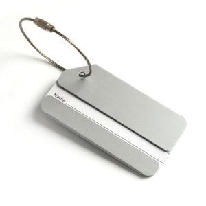 Material de aluminio y los hombres el nombre del departamento de metal de aluminio de la etiqueta de equipaje