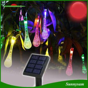 太陽クリスマスストリング軽水の低下屋外LEDの妖精ランプ