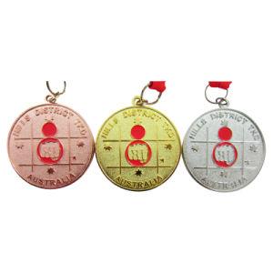 Einfache kundenspezifische Australien-Kupfer-/Gold-/Siver Metallhügel-Sport-Medaille (089)