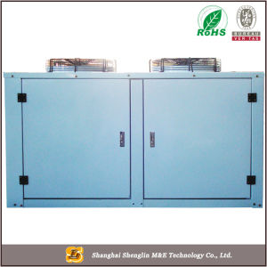 Quarto evaporadores e condensadores de ar frio