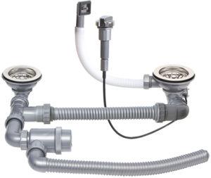 Double vasque petit coin à gauche et droite pour évier en acier inoxydable
