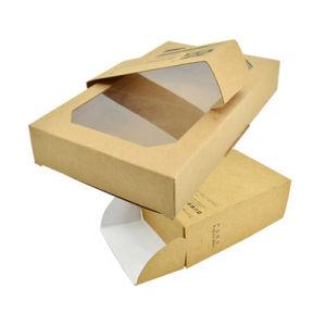 透過Windowsが付いているクラフト紙のパッキングギフト袋