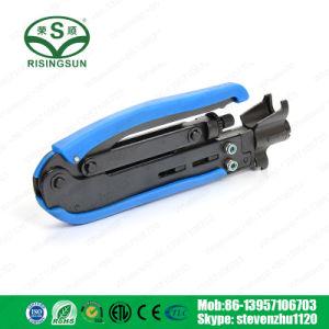 La distancia ajustable RG59/RG6/RG11/RG7 Herramienta de compresión de conector F