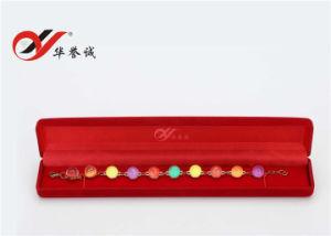 3 قطعات/مجموعة أحمر مخمل عقد صندوق مع أبيض & أحمر مخمل بطانة