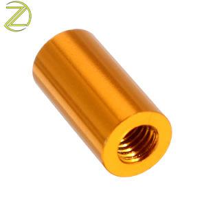 Manicotto di giro dell'asse filettato accoppiamento d'acciaio di alluminio del distanziatore della boccola del metallo di CNC della fabbrica del hardware